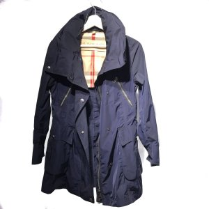 Dark Blue Burberry Rain Coat