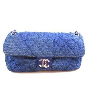 Chanel Borsa a tracolla blu scuro