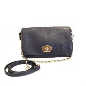 Dark Blue Coach Shoulder Bag