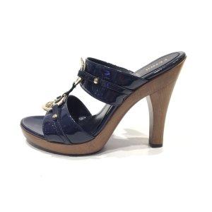 Dark Blue Fendi Flip Flop