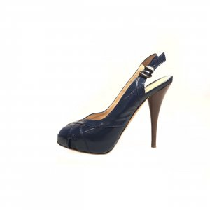 Dark Blue Fendi High Heel
