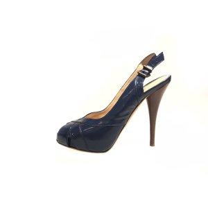 Fendi High-Heeled Sandals dark blue