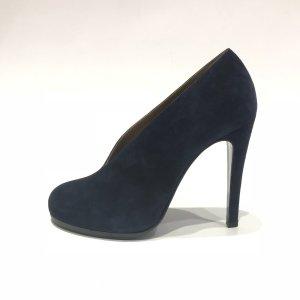 Hermès Sandalo con tacco alto blu scuro