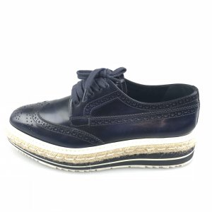 Dark Blue Prada Flat
