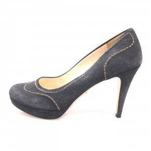 Prada Sandalo con tacco alto blu scuro