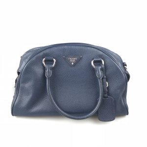 Dark Blue Prada Shoulder Bag