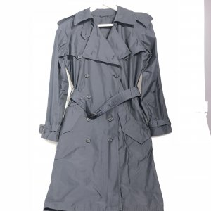 Dark Blue Prada Trench Coat