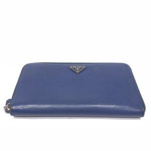 Dark Blue Prada Wallet