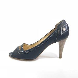 Dark Blue Tod's High Heel