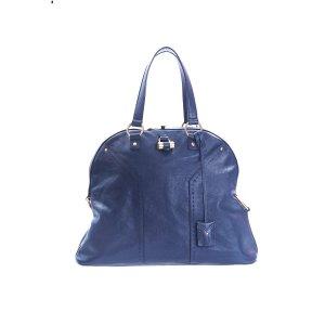 Dark Blue Yves Saint Laurent Shoulder Bag