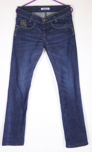 Dark Denim Jeans Hose Killah Größe 36 38 Blau Stickerei Skinny Used Look