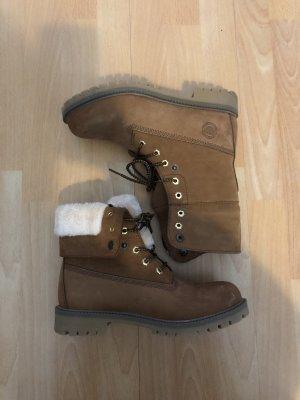 Snow Boots cognac-coloured-camel