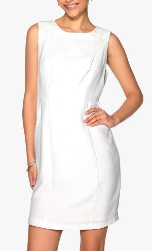 """Darling Elegantes Kleid mit Spitze """"weiß"""" Gr. 36/38 M Neu"""