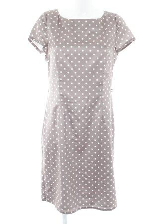 Darling Harbour Abendkleid graubraun-weiß Punktemuster 60ies-Stil