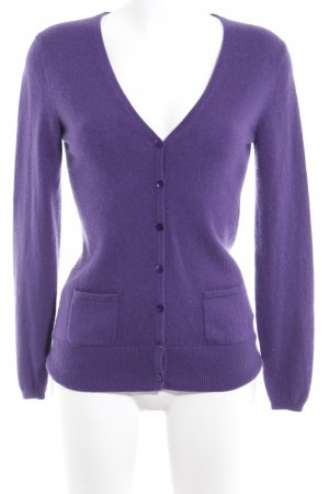 Darling Harbour Cardigan lila-dunkelviolett Kuschel-Optik
