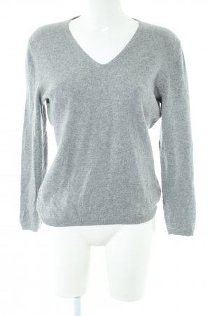 Darling Harbour Cashmere Jumper light grey flecked casual look