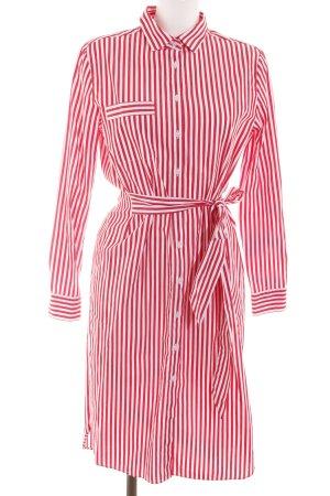 Darling Harbour Vestido tipo blusón rojo-blanco estampado a rayas look casual