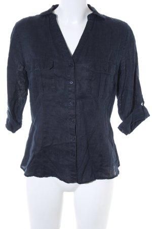 Darling Harbour Camicia a maniche corte blu scuro stile professionale