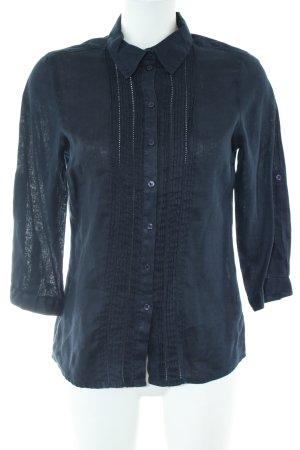 Darling Harbour Langarm-Bluse blau Casual-Look