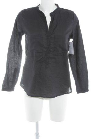 Darling Harbour Langarm-Bluse anthrazit schlichter Stil