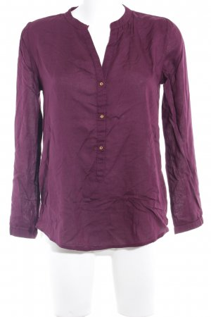 Darling Harbour Langarm-Bluse brombeerrot Casual-Look