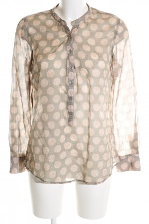 Darling Harbour Long Sleeve Blouse brown-natural white allover print casual look