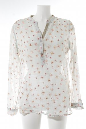 Darling Harbour Langarm-Bluse mint-rosé florales Muster Romantik-Look