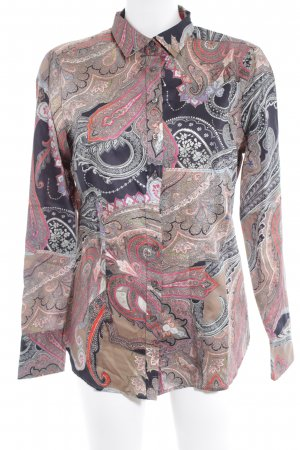 Darling Harbour Long Sleeve Blouse paisley pattern business style