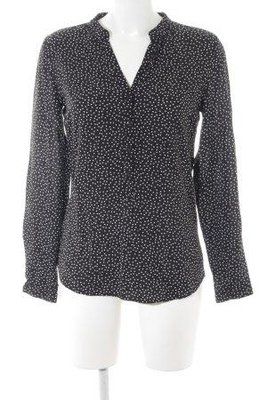 Darling Harbour Langarm-Bluse schwarz-weiß Punktemuster Casual-Look