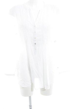 Darling Harbour Langarm-Bluse weiß klassischer Stil