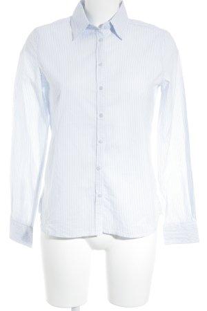 Darling Harbour Langarmhemd himmelblau-weiß Streifenmuster klassischer Stil