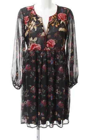 Darling Harbour Langarmkleid florales Muster Gypsy-Look
