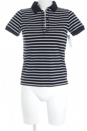 Darling Harbour Polo-Shirt weiß-schwarz Streifenmuster Casual-Look