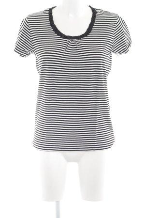 Darling Harbour Ringelshirt schwarz-weiß Schriftzug gedruckt Casual-Look