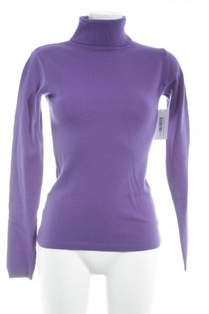Darling Harbour Rollkragenpullover lila Casual-Look