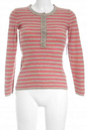 Darling Harbour Rundhalspullover pink-creme Streifenmuster Casual-Look