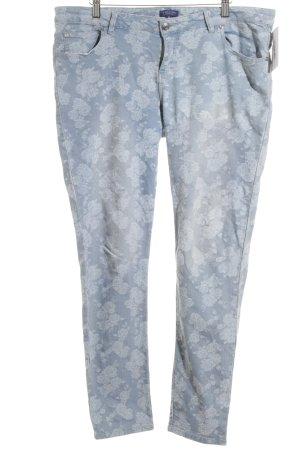 Darling Harbour Slim Jeans himmelblau Blumenmuster Casual-Look