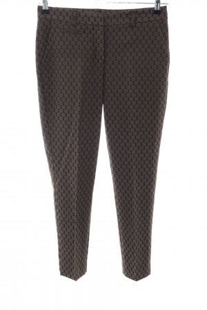 Darling Harbour Jersey Pants brown-black spot pattern casual look