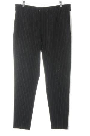 Darling Harbour Stoffhose schwarz-wollweiß Nadelstreifen Business-Look