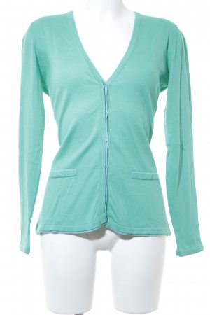 Darling Harbour Strickjacke hellblau-türkis Casual-Look