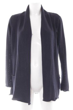 Darling Harbour Manteau en tricot bleu foncé style décontracté
