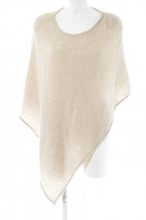 Darling Harbour Knitted Poncho cream cable stitch casual look