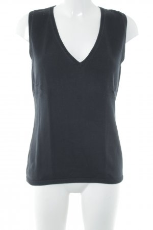 Darling Harbour Knitted Top black simple style