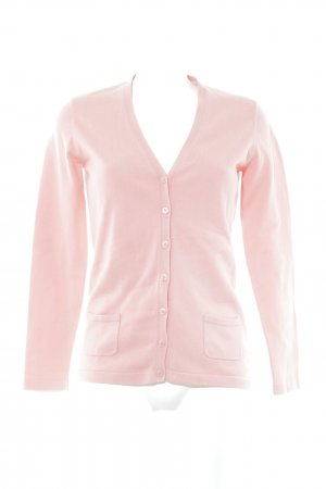 Darling Harbour Gebreid vest abrikoos Webpatroon casual uitstraling