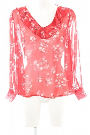 Darling Harbour Transparenz-Bluse florales Muster Casual-Look