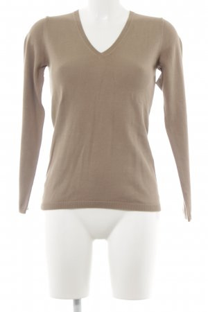 Darling Harbour V-Ausschnitt-Pullover beige Business-Look