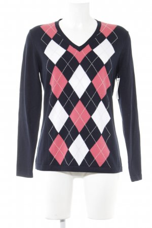 Darling Harbour V-Ausschnitt-Pullover Steppmuster Casual-Look