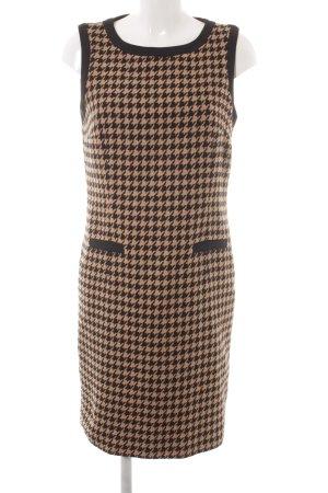 Darling Harbour Wollkleid hellbraun-schwarz Hahnentrittmuster schlichter Stil