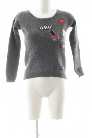 Darling Harbour Wool Sweater themed print casual look