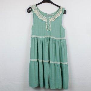 Darling Kleid Spitzenkleid Gr. M hellgrün mit weißer Spitze